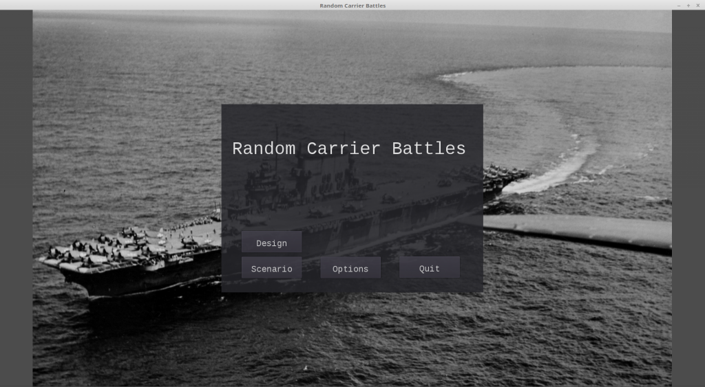 random carrier battles main menu